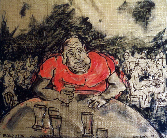 Bouddha au bar